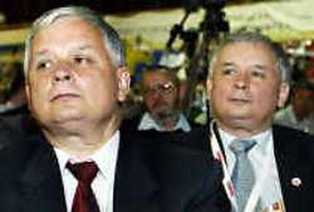Poolse broers Jaroslaw en Lech Kaczynski willen president  en/of premier worden