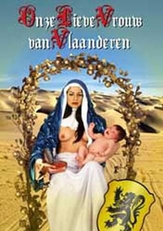 Manifestatie tegen affiche ,,Onze Lieve Vrouw van Vlaanderen''