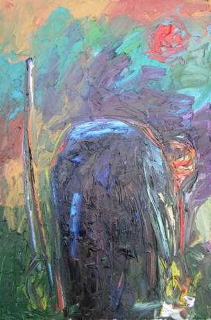 Kunstenaar Joshu Georg stelt tentoon in de Knoetloods