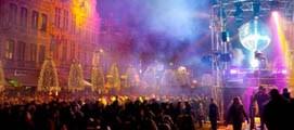 Dans het nieuwe jaar in op de Oude Markt