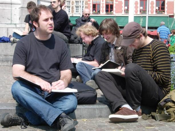 In beeld: Gentenaren schetsen Brugge