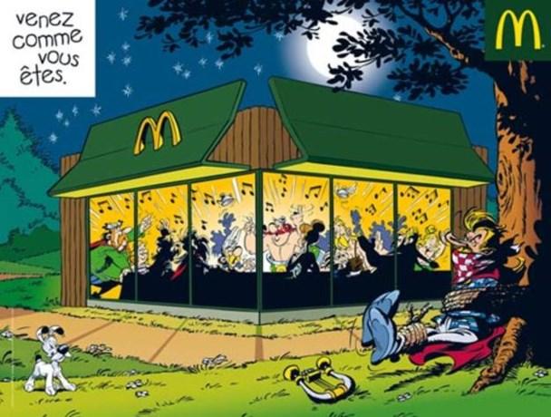 Asterix maakt reclame voor McDonald's