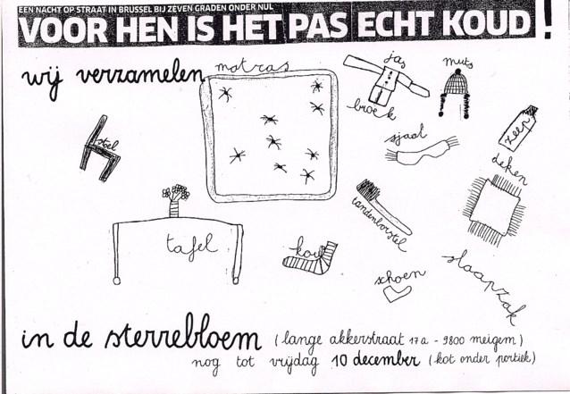 Sterrebloem Meigem organiseert inzamelactie voor asielzoekers en thuislozen