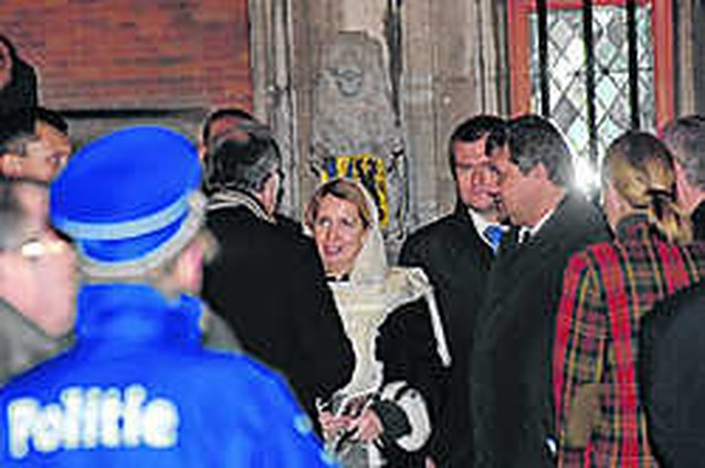 Brugge op stelten voor Russische first lady