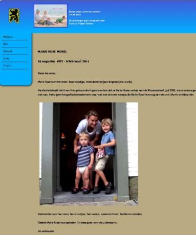 Website Morel: 'Moedige strijd is voorbij'