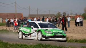 Pieter Tsjoen met Skoda in rally van Ieper