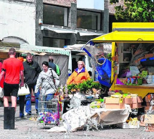 Marktkramers ontevreden over verhuis Hopmarkt naar Vredeplein