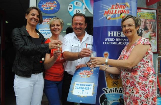 Gelukslotje van 79 miljoen euro verkocht in Muizen