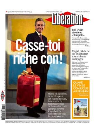 Libération: 'Bol het af, rijke zak!'