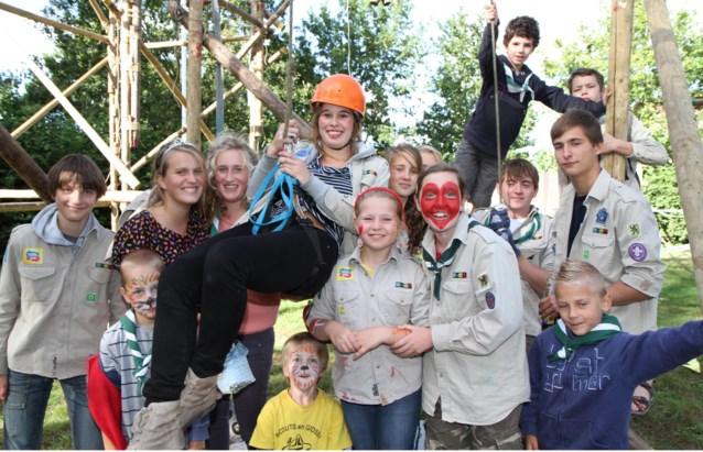 Scouts starten werkjaar met gesjord parcours