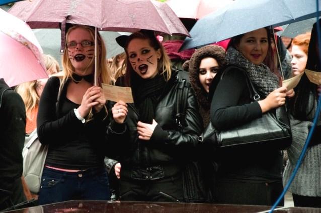 Leerlingen VTI Hasselt zingen voor het klimaat