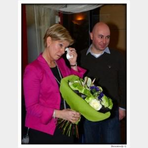 Patricia Van De Weghe kan tranen niet bedwingen bij afscheid als voorzitter Open VLD
