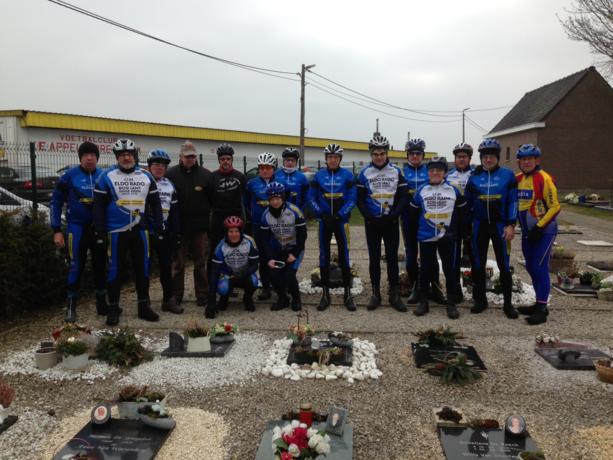 Eldoradofietsers herdenken overleden wielermaat