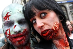 Honderden 'zombies' paraderen door Brussel
