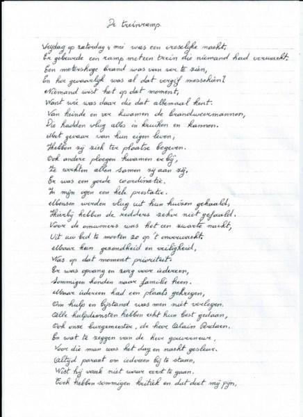 Oma Schrijft Gedicht Nav Treinramp Wetteren Het