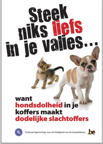 België waarschuwt voor hondsdolheid