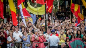 Honderden fans van koningshuis in Brussel