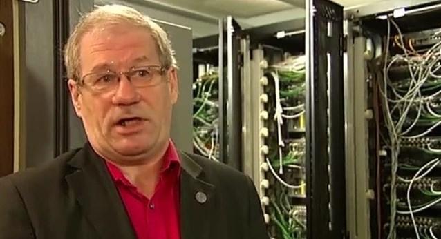 Rudi Vansnick van Internet Society in tv-journaal over wet dataretentiebeleid