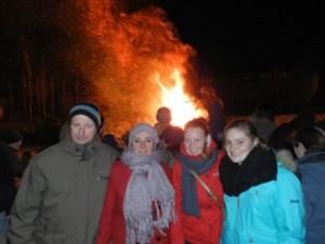 Kerstboomverbranding op 18 januari