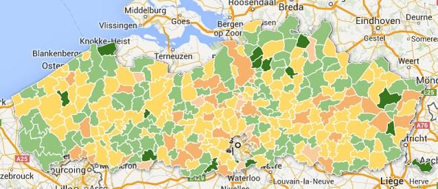 In deze Vlaamse gemeenten wonen we het liefst