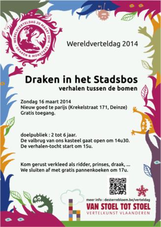 'Draken in het stadsbos' voor Wereldverteldag 2014