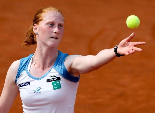 Regen houdt Alison Van Uytvanck van de baan op Roland Garros