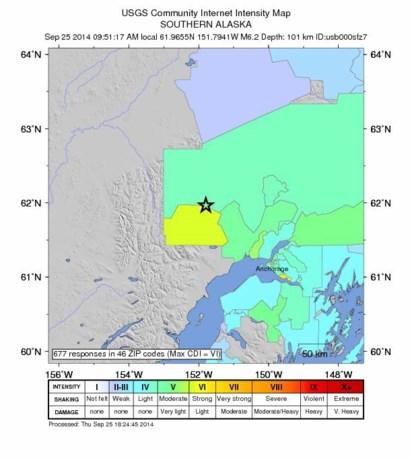 Alaska getroffen door zware aardbeving