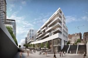 Wandel door de toekomstige wijk aan het Sint-Pietersstation