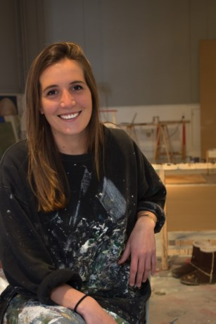 Carolyn Spaenjaers (27) stelt werk tentoon op De Merodelei