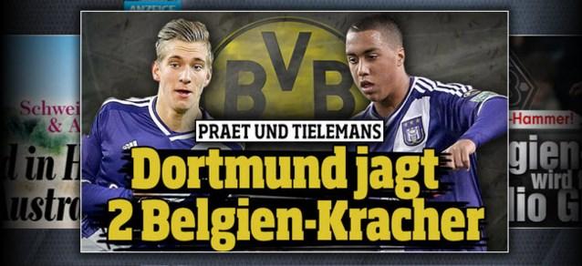 'Dortmund wil 25 miljoen euro betalen voor Praet en Tielemans'