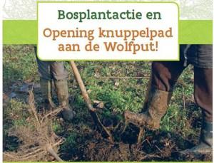 Bosplantactie en opening knuppelpad aan de Wolfput in Serskamp