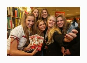 Stormloop voor moppenboek van Joke Van De Velde