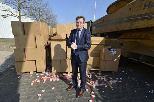 89,5 miljoen onderschepte namaaksigaretten vernietigd in Antwerpen