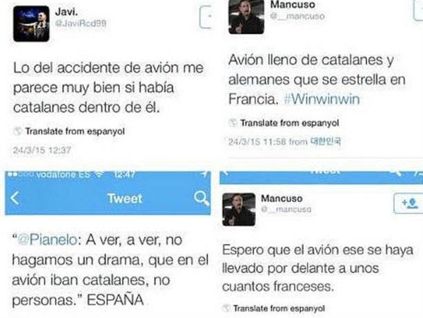 Spaanse politie start onderzoek naar haattweets crash Germanwings
