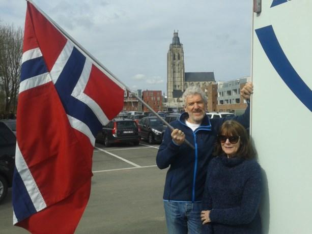 Supporters Kristoff al van de partij in Oudenaarde