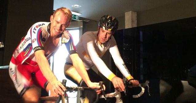 Kristoff bereidt zich samen met Erwin Vervecken voor op de Ronde van Vlaanderen