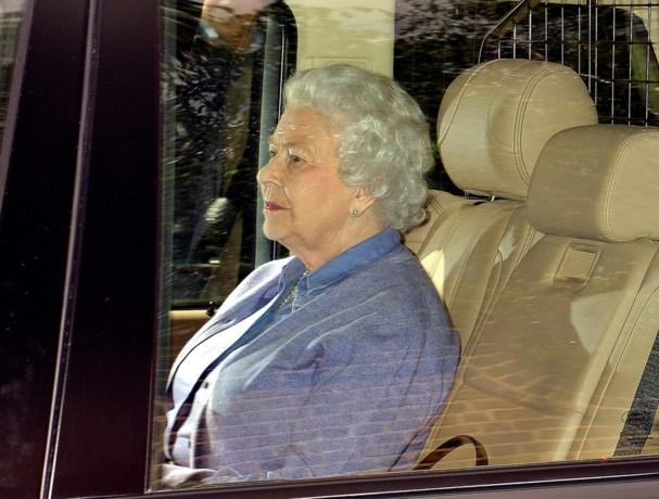 Queen Elizabeth bezoekt achterkleindochter prinses Charlotte