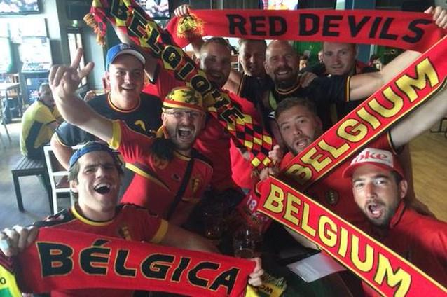 Belgische fans rijden naar het foute Wales