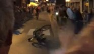 Wheelie van Sagan loopt fout af in Aalst