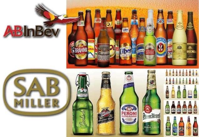 Deze 97 bieren komen in handen van InBev