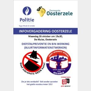 Infovergadering over preventie in Oosterzele op 26 oktober