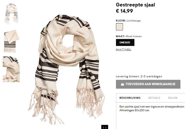 Gestreepte sjaal uit H&M wekt verontwaardiging op bij joden