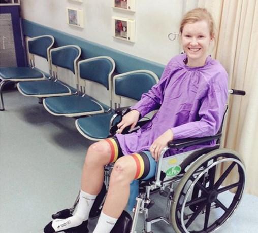 Jolien D'hoore rijdt tornooi uit met twee gebroken ribben