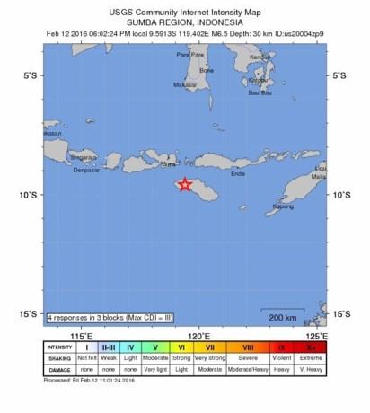 Zware aardbeving treft Indonesië