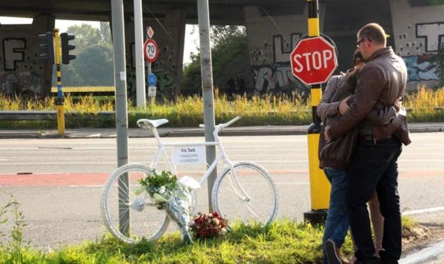 Monument voor verongelukte fietser gestolen