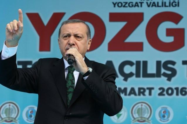 Erdogan blijft verwijten richting België sturen