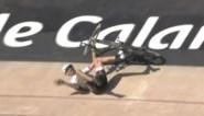 Cancellara valt tijdens ererondje op piste van Roubaix