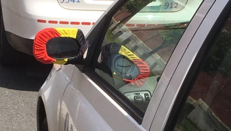 Politie supportert iets te enthousiast voor de Rode Duivels