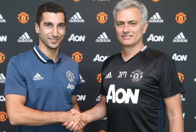 Mourinho rondt derde transfer af en haalt Mkhitaryan naar Manchester United