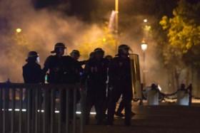 Franse jongeren vergallen feest op Champs-Elysées na winst tegen Duitsland